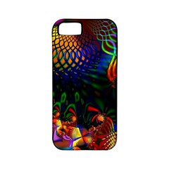 Colored Fractal Apple Iphone 5 Classic Hardshell Case (pc+silicone)