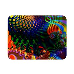 Colored Fractal Double Sided Flano Blanket (mini)