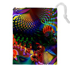 Colored Fractal Drawstring Pouches (xxl)