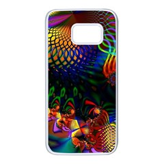 Colored Fractal Samsung Galaxy S7 White Seamless Case