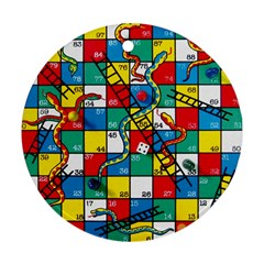 Snakes And Ladders Ornament (round)