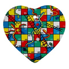 Snakes And Ladders Ornament (heart)