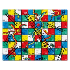 Snakes And Ladders Rectangular Jigsaw Puzzl