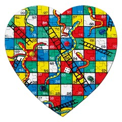 Snakes And Ladders Jigsaw Puzzle (heart)