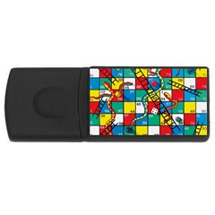 Snakes And Ladders Rectangular Usb Flash Drive