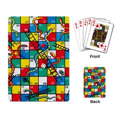 Snakes And Ladders Playing Card