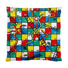 Snakes And Ladders Standard Cushion Case (one Side)