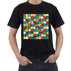 Snakes And Ladders Men s T Shirt (black)