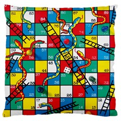 Snakes And Ladders Large Cushion Case (two Sides)