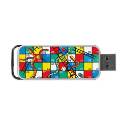 Snakes And Ladders Portable Usb Flash (two Sides)