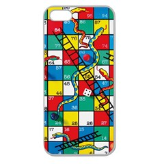 Snakes And Ladders Apple Seamless Iphone 5 Case (clear)