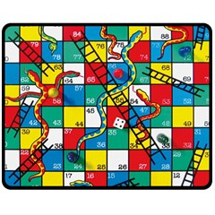 Snakes And Ladders Double Sided Fleece Blanket (medium)