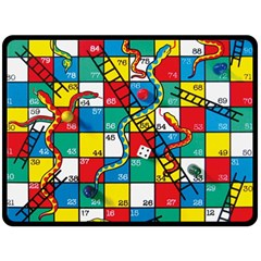 Snakes And Ladders Double Sided Fleece Blanket (large)