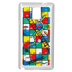 Snakes And Ladders Samsung Galaxy Note 4 Case (white)