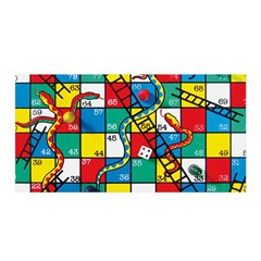 Snakes And Ladders Satin Wrap