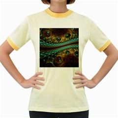 Fractal Snake Skin Women s Fitted Ringer T Shirts