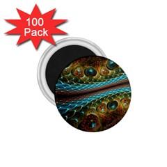 Fractal Snake Skin 1 75  Magnets (100 Pack)