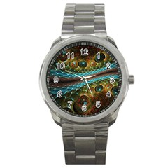 Fractal Snake Skin Sport Metal Watch