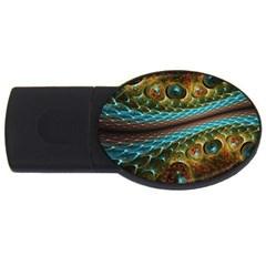 Fractal Snake Skin Usb Flash Drive Oval (4 Gb)