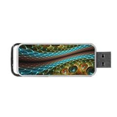 Fractal Snake Skin Portable Usb Flash (one Side)
