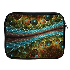 Fractal Snake Skin Apple Ipad 2/3/4 Zipper Cases