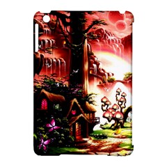 Fantasy Art Story Lodge Girl Rabbits Flowers Apple Ipad Mini Hardshell Case (compatible With Smart Cover)