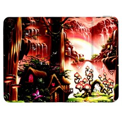 Fantasy Art Story Lodge Girl Rabbits Flowers Samsung Galaxy Tab 7  P1000 Flip Case