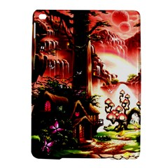Fantasy Art Story Lodge Girl Rabbits Flowers Ipad Air 2 Hardshell Cases