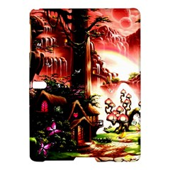 Fantasy Art Story Lodge Girl Rabbits Flowers Samsung Galaxy Tab S (10 5 ) Hardshell Case