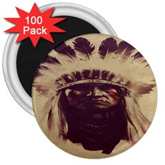 Indian 3  Magnets (100 Pack)