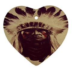 Indian Heart Ornament (two Sides)