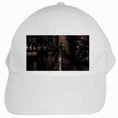 Blacktechnology Circuit Board Electronic Computer White Cap