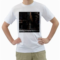 Blacktechnology Circuit Board Electronic Computer Men s T Shirt (white) (two Sided)