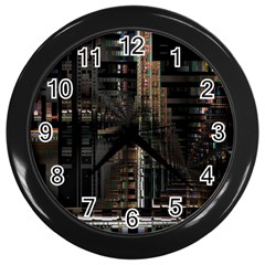 Blacktechnology Circuit Board Electronic Computer Wall Clocks (black)