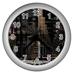 Blacktechnology Circuit Board Electronic Computer Wall Clocks (silver)