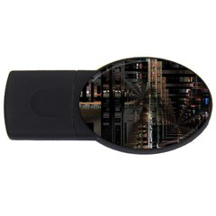 Blacktechnology Circuit Board Electronic Computer Usb Flash Drive Oval (2 Gb)