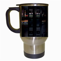 Blacktechnology Circuit Board Electronic Computer Travel Mugs (white)