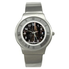 Blacktechnology Circuit Board Electronic Computer Stainless Steel Watch