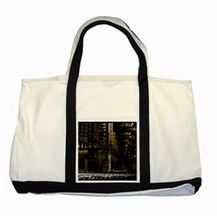 Blacktechnology Circuit Board Electronic Computer Two Tone Tote Bag