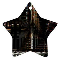 Blacktechnology Circuit Board Electronic Computer Star Ornament (two Sides)