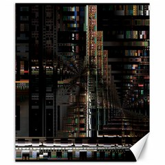 Blacktechnology Circuit Board Electronic Computer Canvas 20  X 24