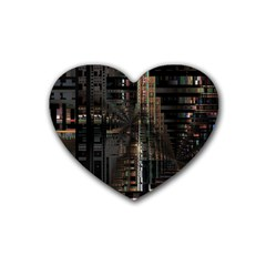 Blacktechnology Circuit Board Electronic Computer Heart Coaster (4 Pack)