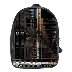 Blacktechnology Circuit Board Electronic Computer School Bags(large)
