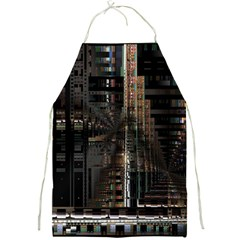 Blacktechnology Circuit Board Electronic Computer Full Print Aprons