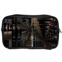 Blacktechnology Circuit Board Electronic Computer Toiletries Bags 2 Side