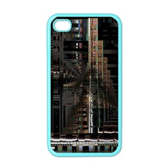 Blacktechnology Circuit Board Electronic Computer Apple Iphone 4 Case (color)