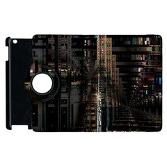 Blacktechnology Circuit Board Electronic Computer Apple Ipad 3/4 Flip 360 Case