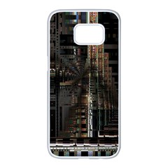 Blacktechnology Circuit Board Electronic Computer Samsung Galaxy S7 Edge White Seamless Case