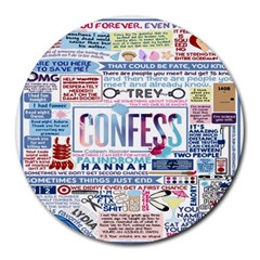 Book Collage Based On Confess Round Mousepads