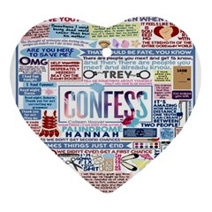 Book Collage Based On Confess Ornament (heart)